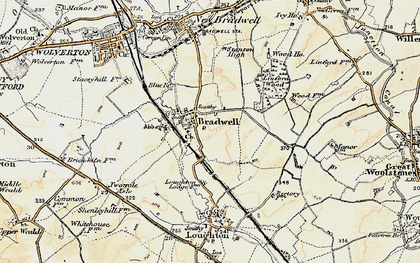 Old map of Bradwell in 1898-1901