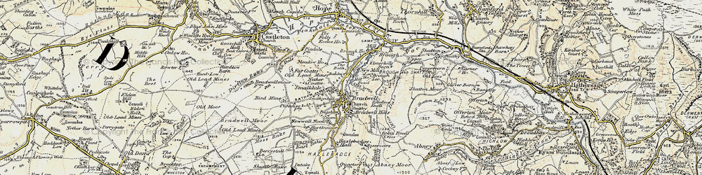 Old map of Bradwell in 1902-1903