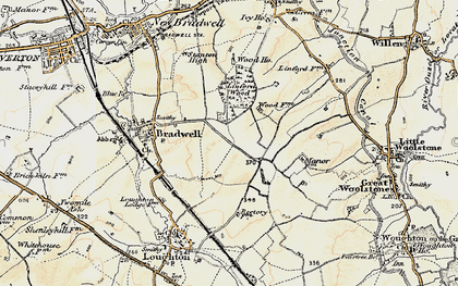 Old map of Bradwell Common in 1898-1901
