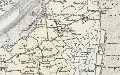 Old map of Bradwell on Sea in 1898