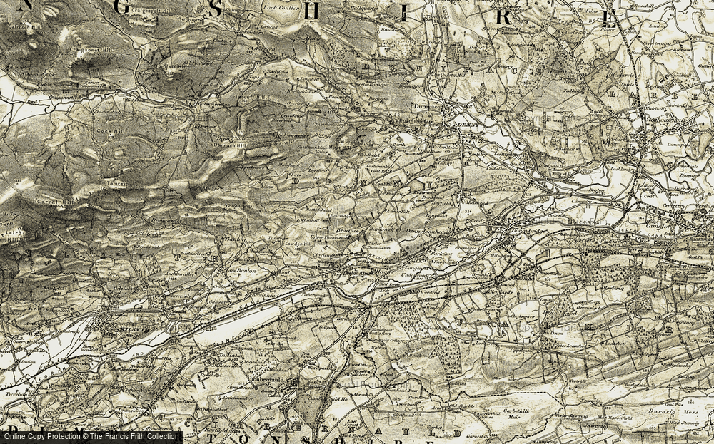 Old Map of Historic Map covering Leys in 1904-1907