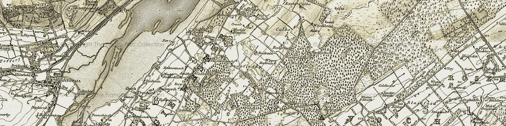 Old map of Woodhead in 1911-1912