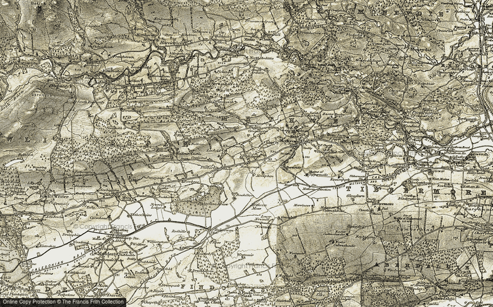 Old Map of Historic Map covering Bachilton in 1906-1908