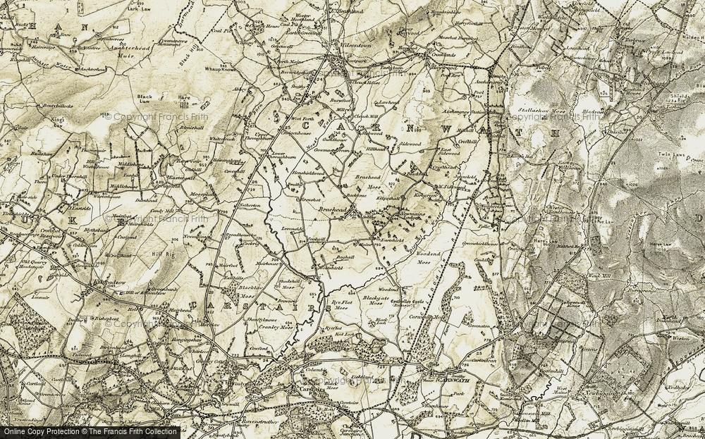 Old Map of Historic Map covering Back Brae in 1904-1905