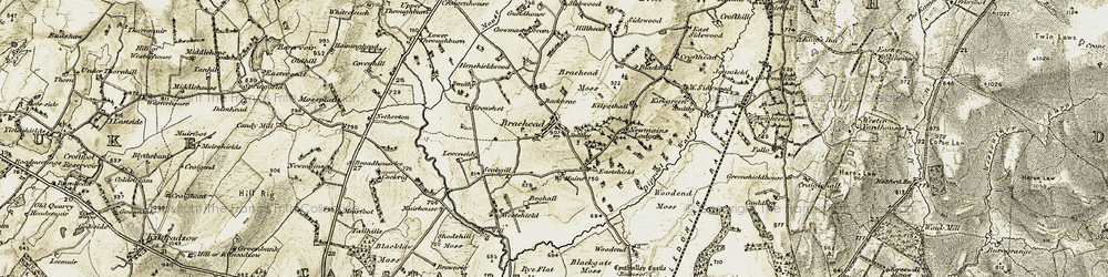 Old map of West Sidewood in 1904-1905