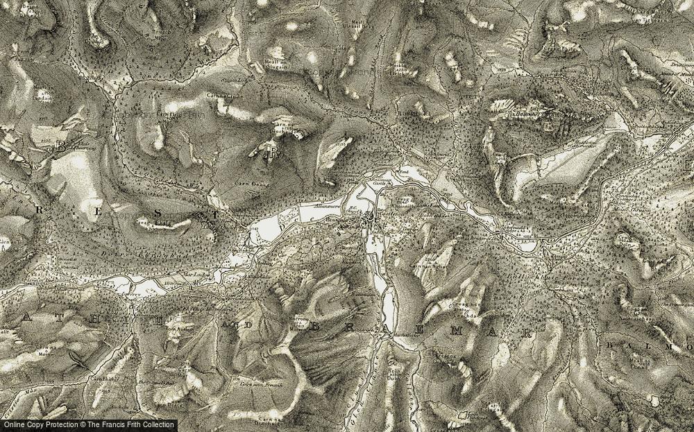 Old Map of Braemar, 1908 in 1908