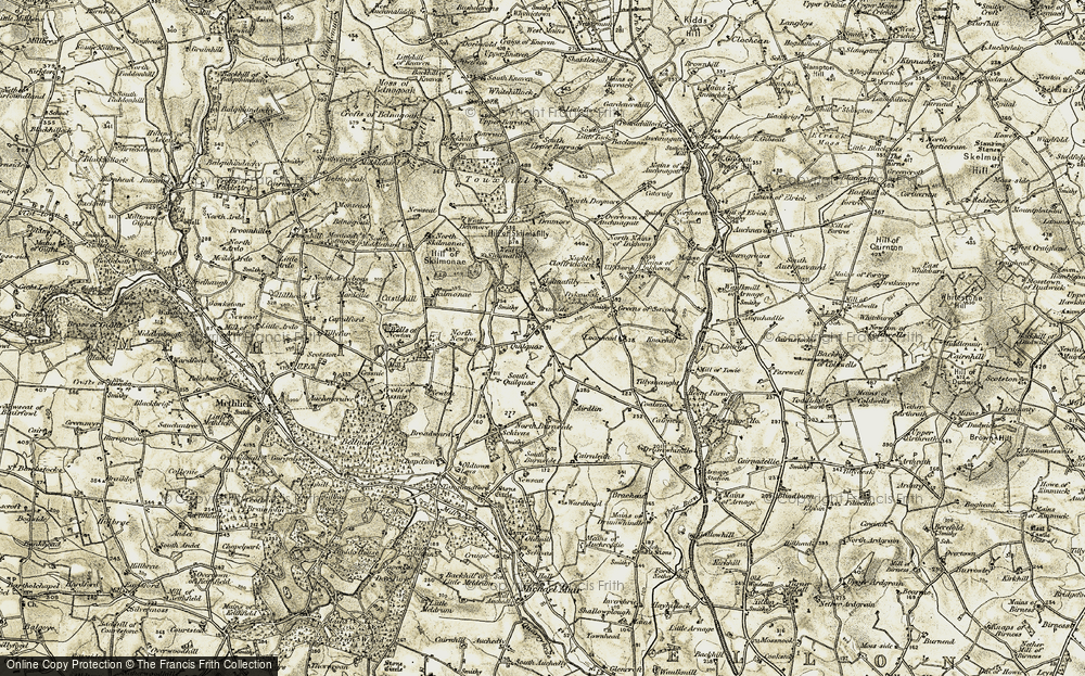 Old Map of Historic Map covering Airdlin in 1909-1910