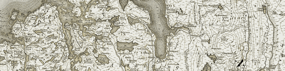 Old map of Aith Ness in 1911-1912
