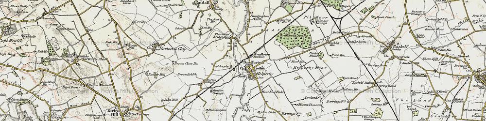 Old map of Brafferton in 1903-1904