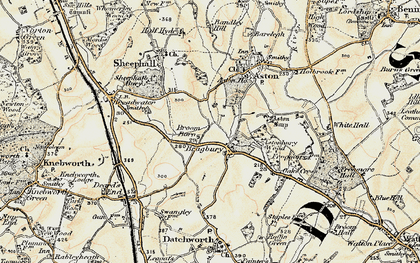 Old map of Aston Bury Manor in 1898-1899