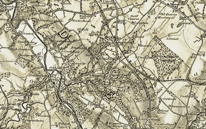 Old map of Woodhall in 1904-1905