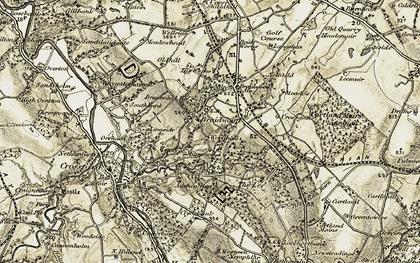 Old map of Auchenglen in 1904-1905