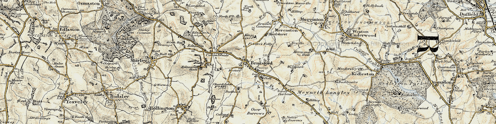 Old map of Brailsford Green in 1902
