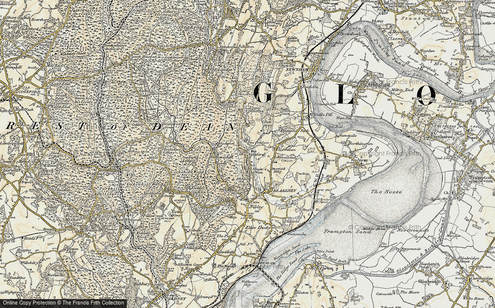 Old Map of Historic Map covering Ayleford in 1899-1900