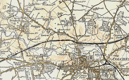 Old map of Lexden Lodge in 1898-1899