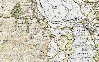 Old map of Braithwaite in 1901-1904