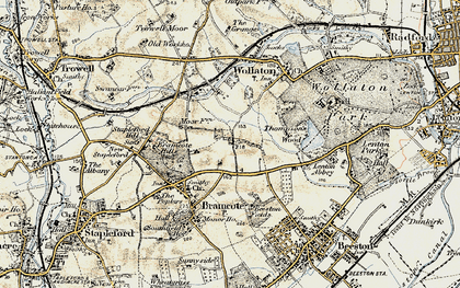 Old map of Bramcote Hills in 1902-1903