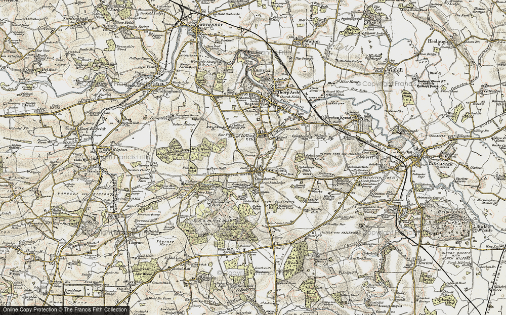 Old Map of Bramham, 1903-1904 in 1903-1904