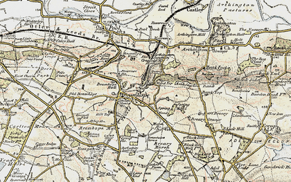 Old map of Bramhope in 1903-1904