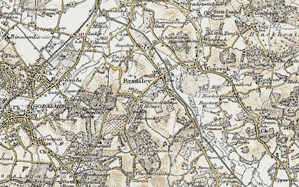 Old map of Bramley in 1897-1909