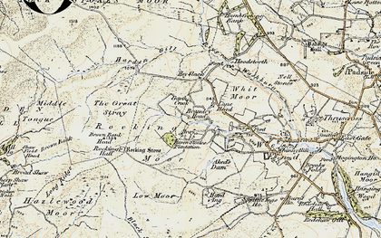 Old map of Aked's Dam in 1903-1904