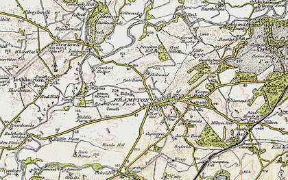 Old map of Wood's Hill in 1901-1904