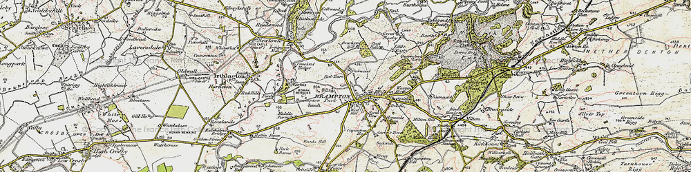 Old map of Aaron's Town in 1901-1904