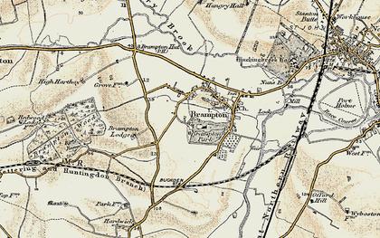 Old map of Brampton in 1901