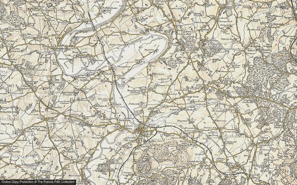 Old Map of Brampton Abbotts, 1899-1900 in 1899-1900