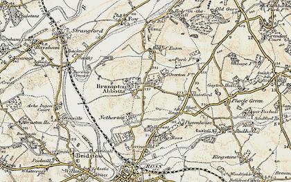 Old map of Brampton Abbotts in 1899-1900