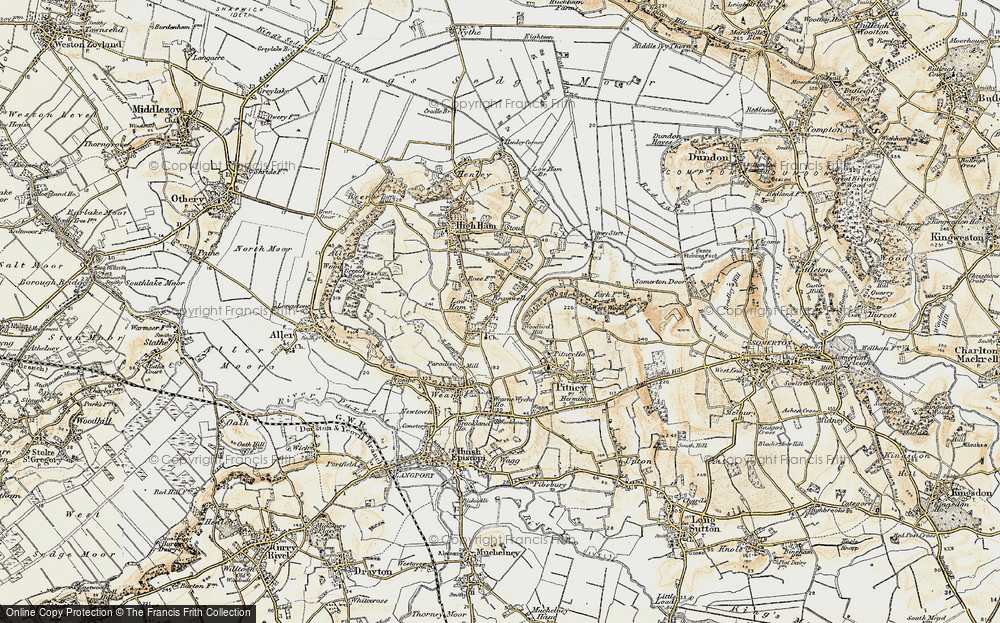 Old Map of Historic Map covering Woodbirds Hill in 1898-1900