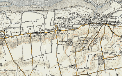 Old map of Brancaster in 1901-1902