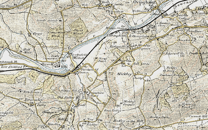 Old map of Branch End in 1901-1904