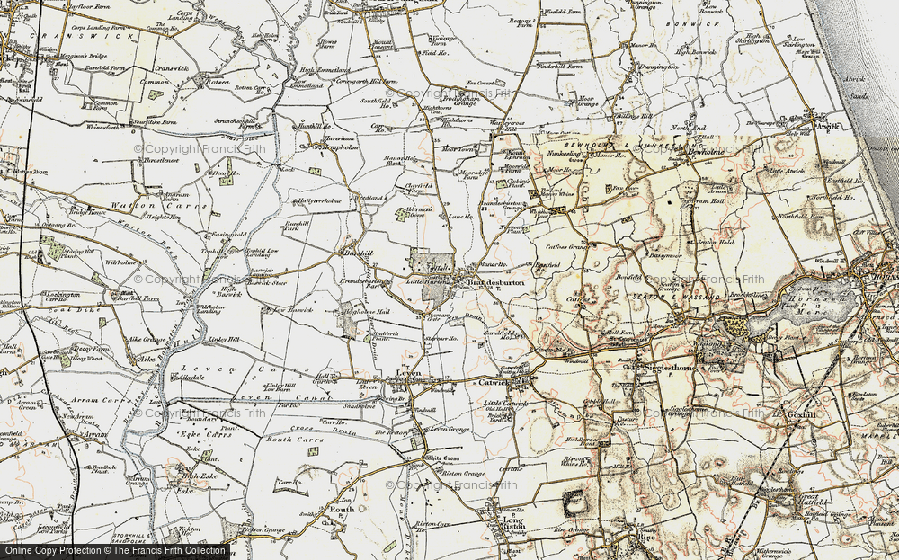 Old Map of Historic Map covering Barff Ho in 1903