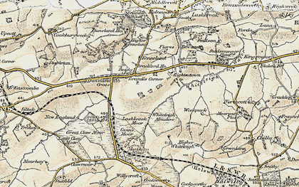 Old map of Whiteleigh Meadow in 1900