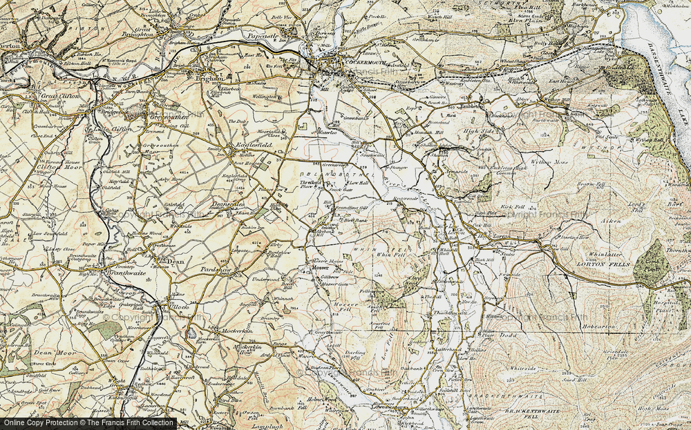 Old Map of Historic Map covering Whin Fell in 1901-1904