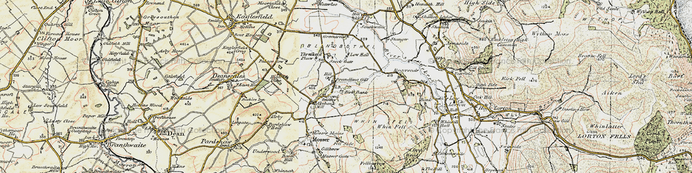 Old map of Whin Fell in 1901-1904