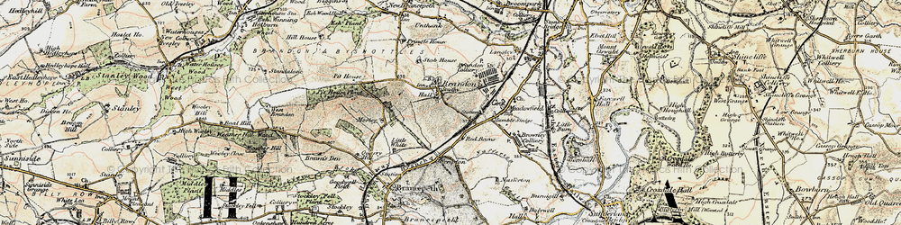 Old map of Brandon in 1901-1904