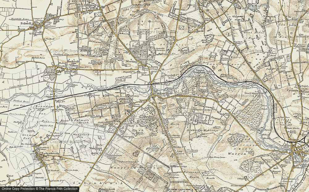Old Maps of Brandon Francis Frith