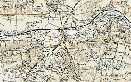 Old map of Brandon in 1901