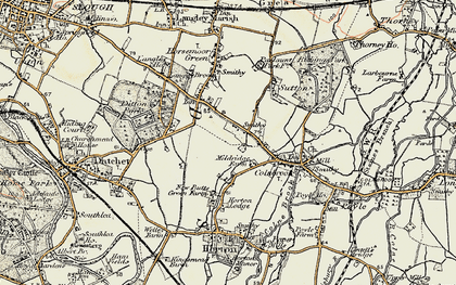 Old map of Brands Hill in 1897-1909