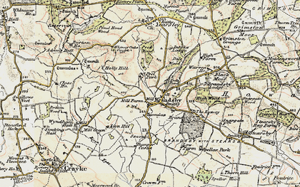 Old map of Brandsby in 1903-1904