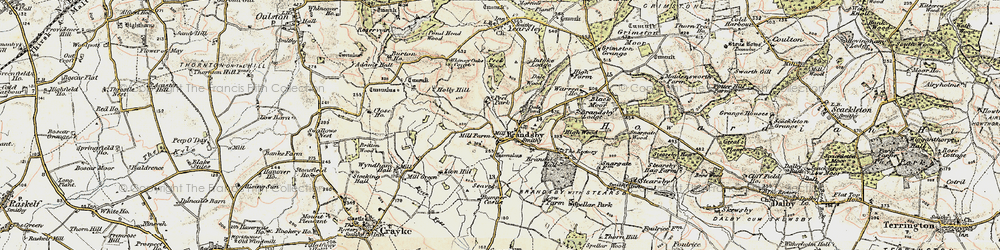 Old map of Whinny Oaks Covert in 1903-1904
