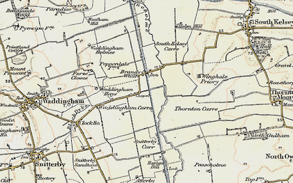 Old map of Winghale Priory in 1903-1908