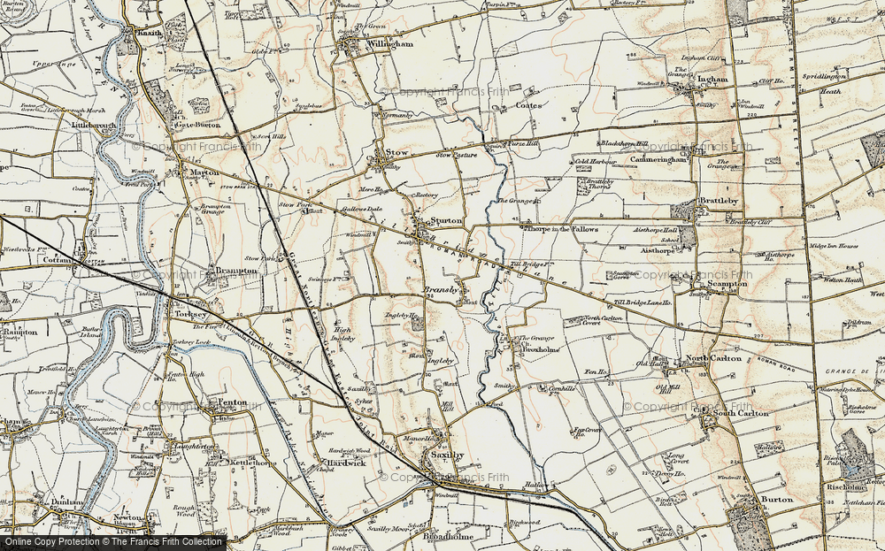Old Map of Historic Map covering Aldhow Grange in 1902-1903
