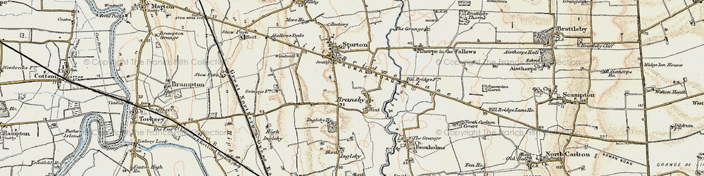Old map of Aldhow Grange in 1902-1903