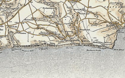 Old map of Branscombe in 1899