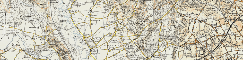 Old map of Bransgore in 1897-1909