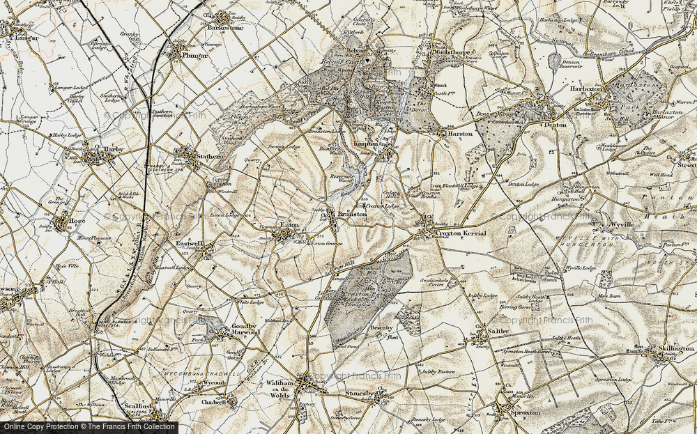 Old Map of Historic Map covering Lings Hill in 1902-1903