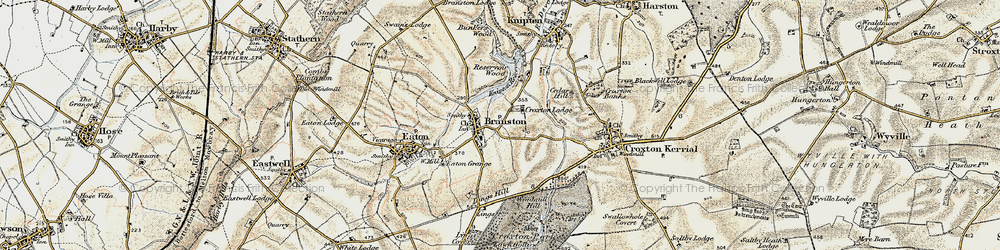 Old map of Lings Hill in 1902-1903